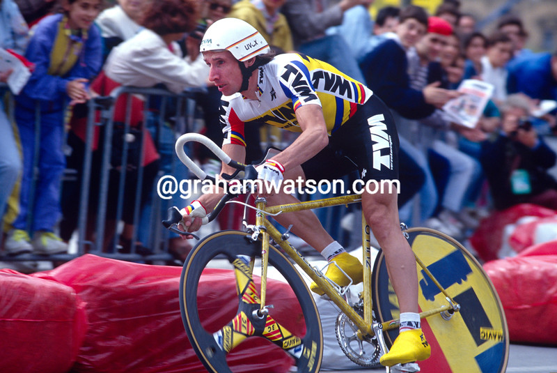 Robert Millar in the 1992 Tour de France Prologue