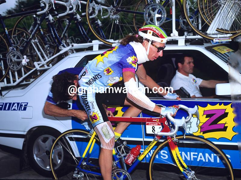 Robert Millar in the 1991 Tour de France