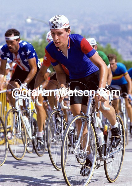 Robert Millar in the 1984 World Championships