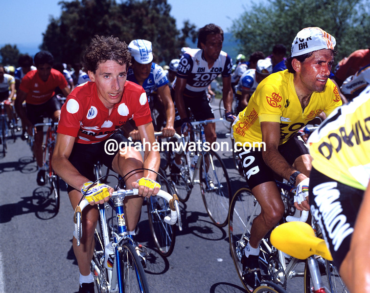Robert Millar and Alvaro Pino in the 1986 Vuelta a España