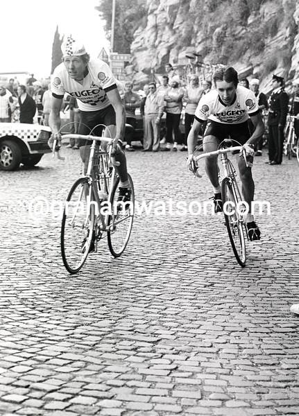Robert Millar and Pascal Simon in the 1982 Giro di Lombardia