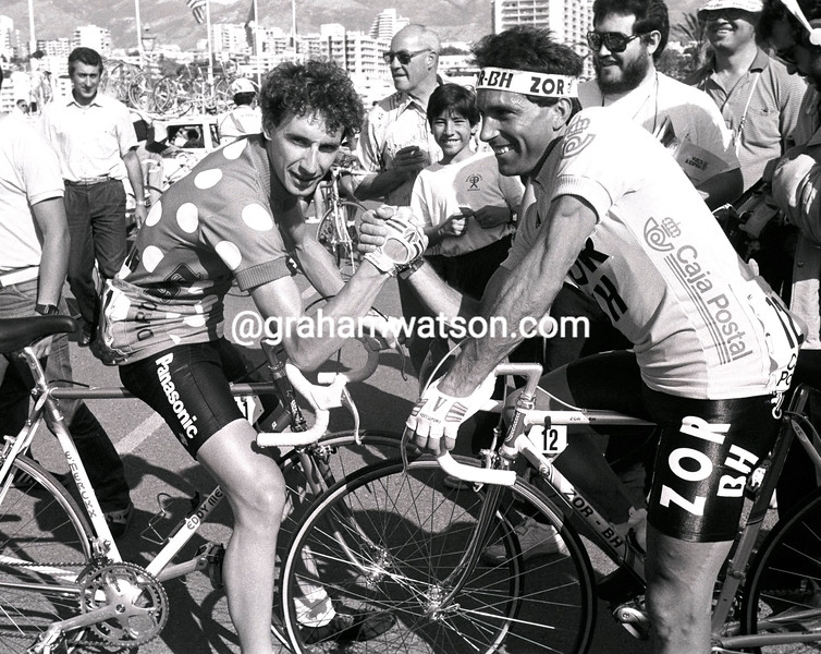 ROBERT MILLAR AND ALVARO PINO IN THE 1986 TOUR OF SPAIN
