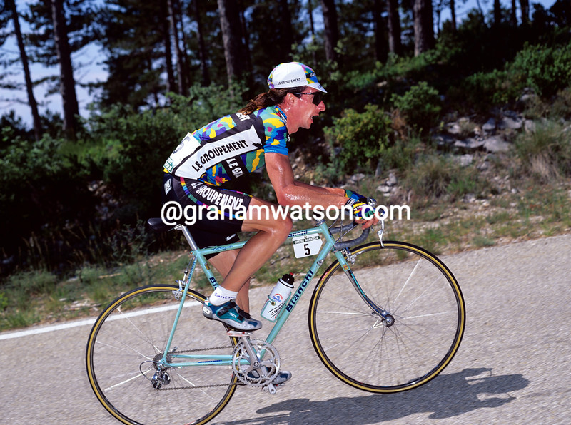 Robert Millar in the 1995 Dauphine-Libere