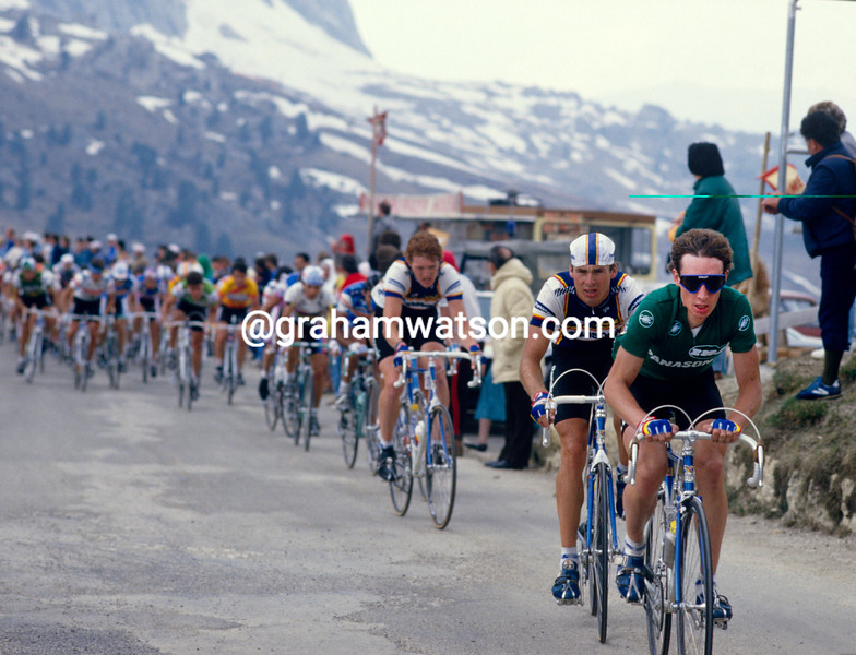 Robert Millar in the 1987 Giro d'Italia