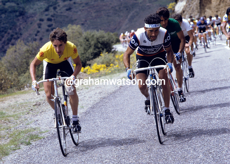 Robert Millar in the 1985 Vuelta a España