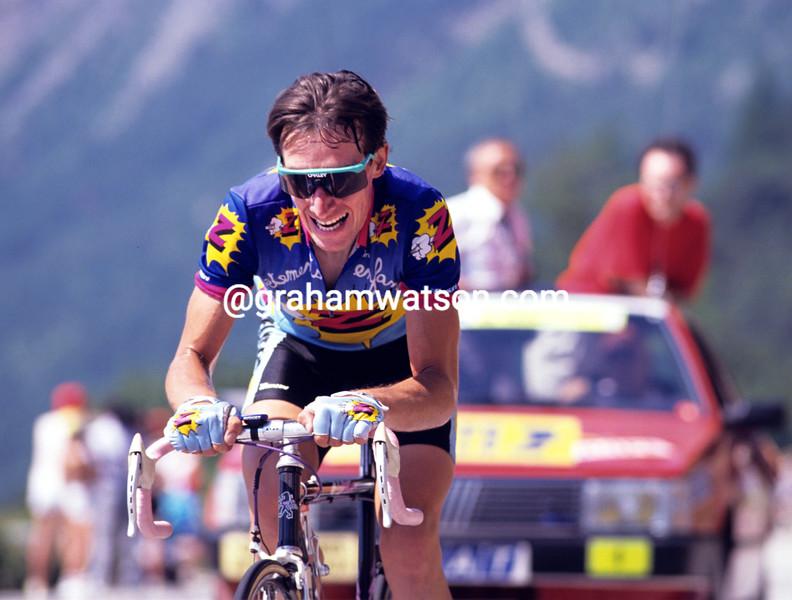 Robert Millar in the 1989 Tour de France