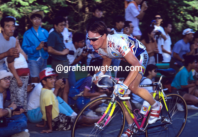 Robert Millar in the 1990 World Championships