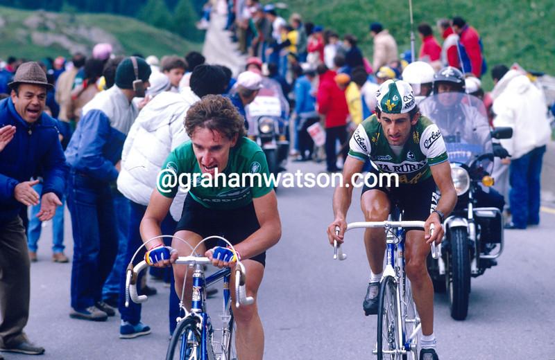 Robert Millar in the 1987 Giro d'Italia