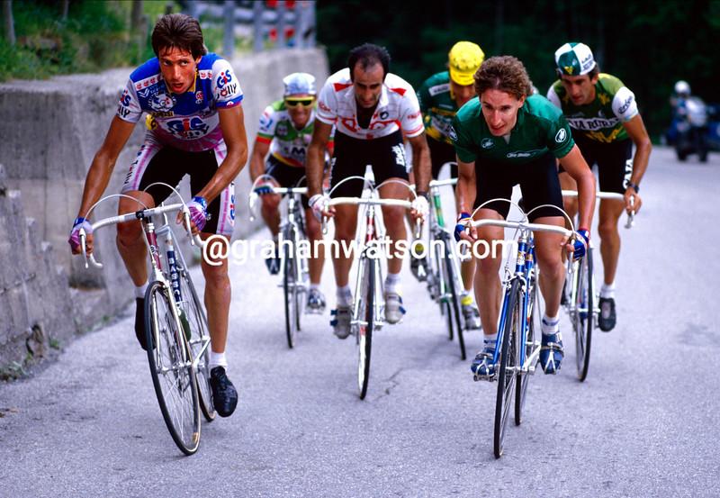 Johan Van Der Velde and Robert Millar in the 1987 Giro d'Italia