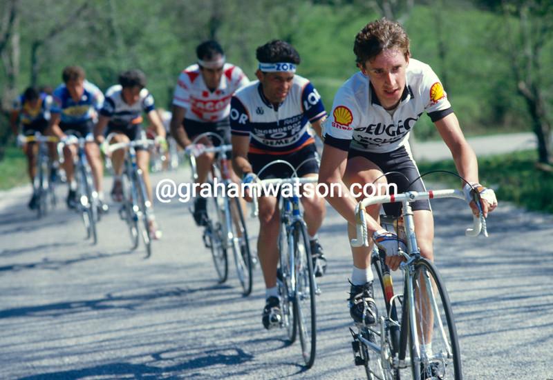 Robert Millar in the 1985 Tour of Spain
