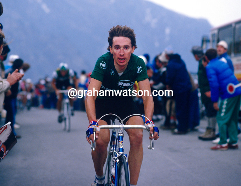 Robert Millar in the 1987Giro d'Italia