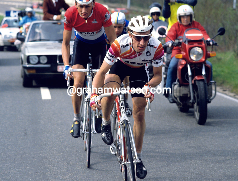 Robert Millar in the 1989 Liege-Bastogne-LIege