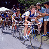 Robert Millar leads Greg LeMond in the 1986 Tour de France