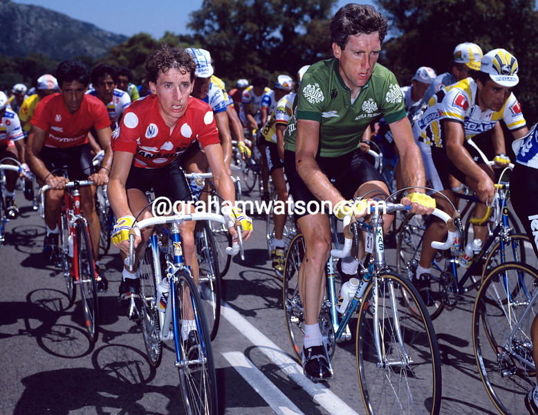 Robert Millar and Sean Kelly in the 1986 Vuelta a España