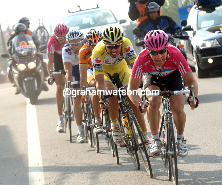 ROGER HAMMOND LEADS THE FINAL ESCAPE IN THE 2007 GHENT WEVELGEM