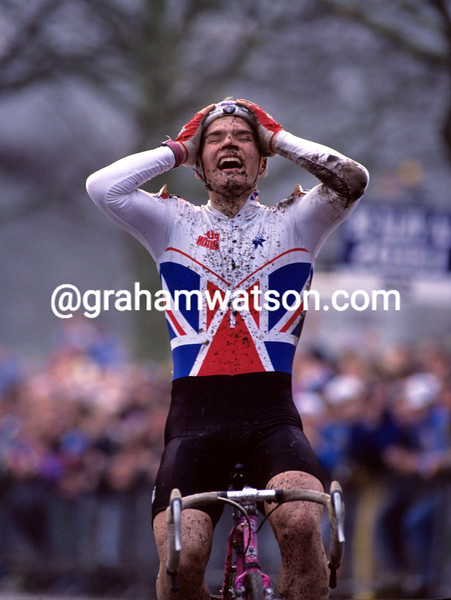 Roger Hammond in the 1992 World Junior Cyclo-Cross Championship