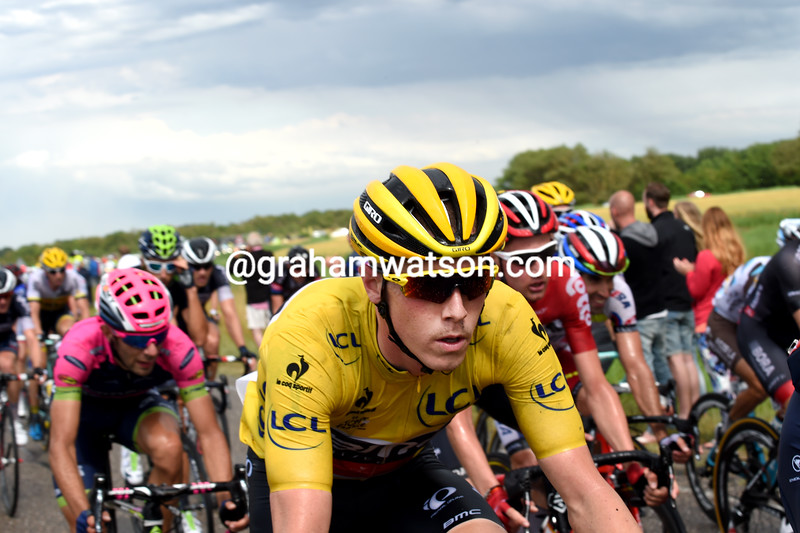 Rohan Dennis on stage two of the 2015 Tour de France