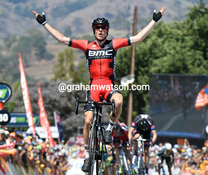 Rohan Dennis wins stage three of the 2015 Tour Down Under