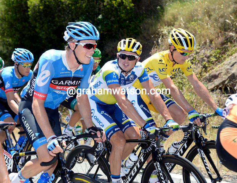 Rohan Dennis and Simon Gerrans on stage seven of the 2013 Tour de France