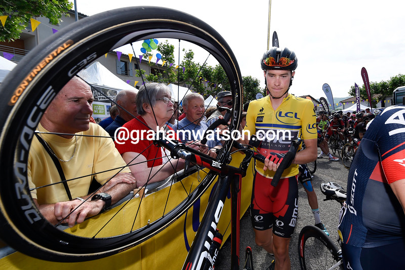 Rohan Dennis on stage four of the 2015 Dauphine-LIbere