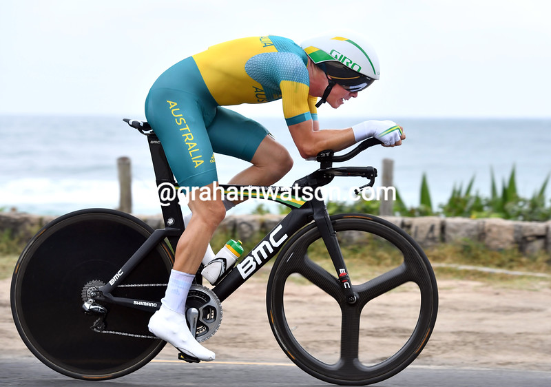 Rohan Dennis in the mens time trial at the 2016 Olympic Games