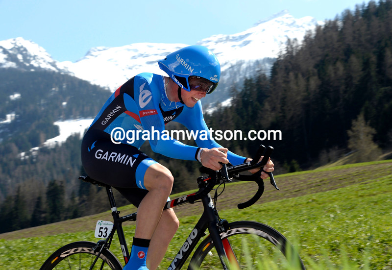 Rohan Dennis in the Prologue of the 2013 Tour of Romandy