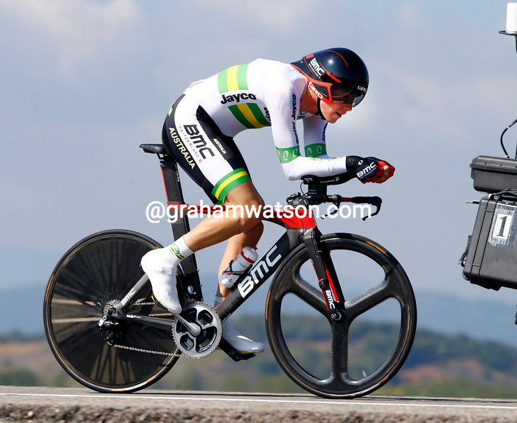 Rohan Dennis in the Elite Mens TT at the 2014 World Road Championships