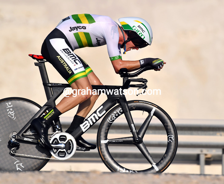 Rohan Dennis in the elite mens TT at the 2016 World Road Championships