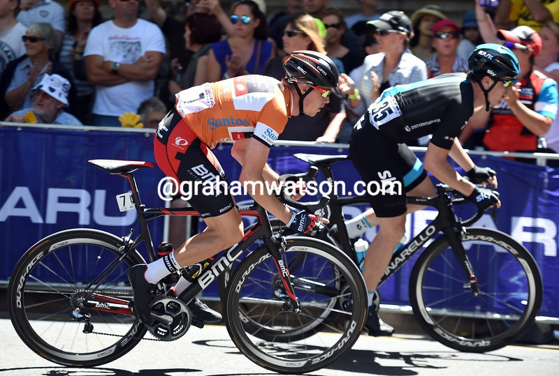 Rohan Dennis on stage six of the 2015 Tour Down Under