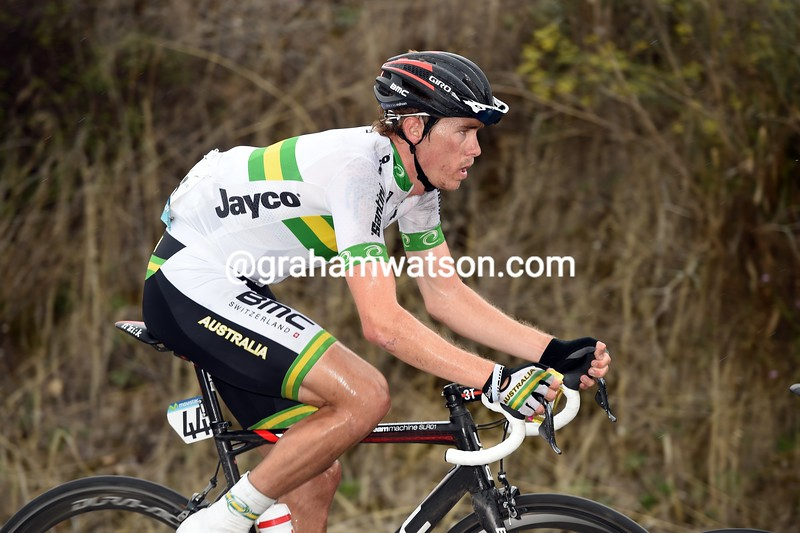 Rohan Dennis in the mens road race at the 2014 World Road Championships