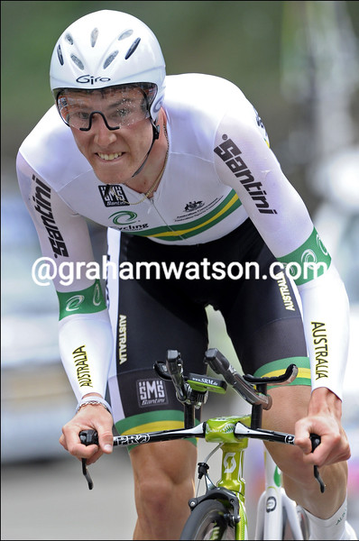 Rohan Dennis in the 2010 mens U-23 time trial championships