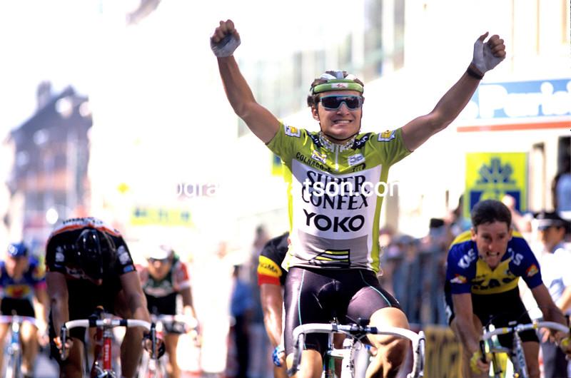 Rolf Golz wins a stage of the 1987 Tour de France