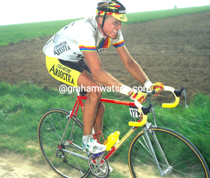 Rolf Sorensen in the 1991 Paris-Roubaix