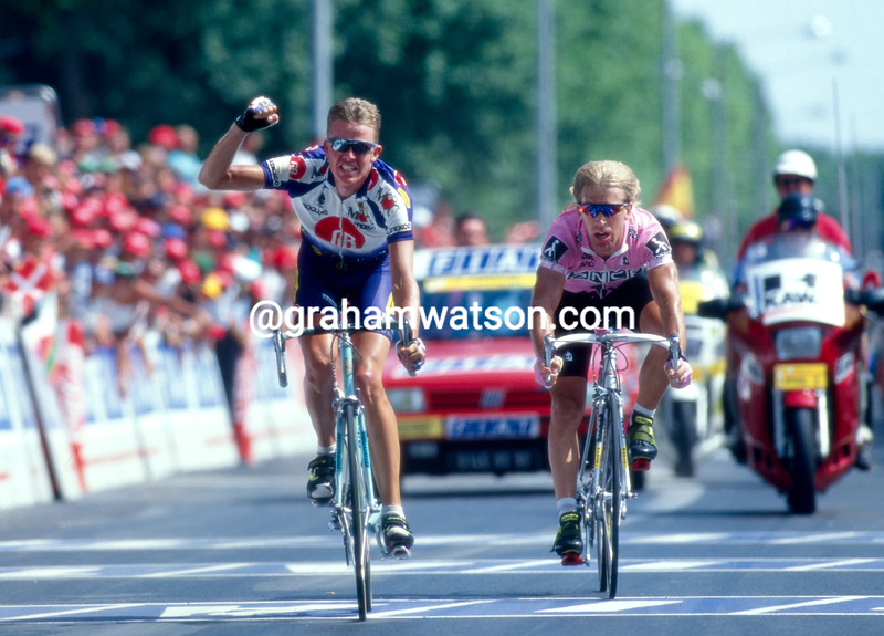 Rolf Sorensen wins a stage in the 1994 Tour de France