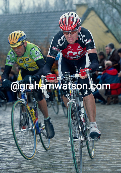 Rolf Sorensen in the 2001 Tour of Flanders