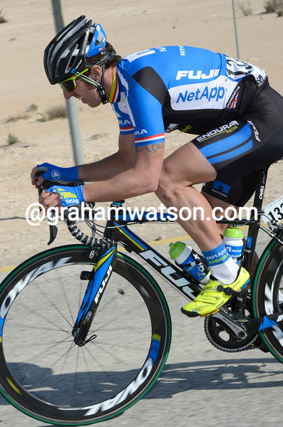 Russell Downing on stage 1 of the 2013 Tour of Oman