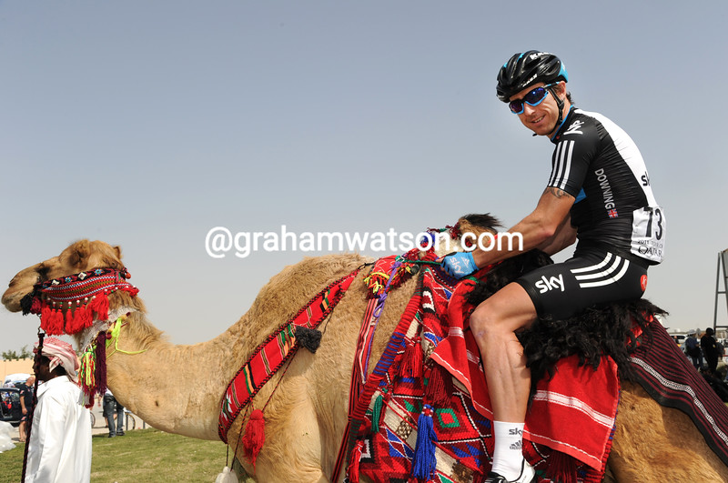 RUSSELL DOWNING ON STAGE TWO OF THE 2011 TOUR OF QATAR
