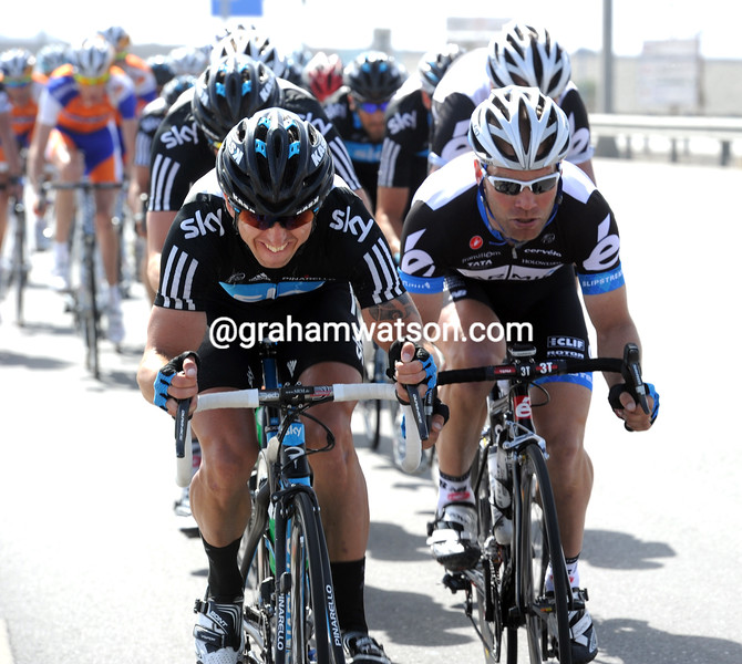 RUSSELL DOWNING AND ROGER HAMMOND ON STAGE FOUR OF THE 2011 TOUR OF OMAN