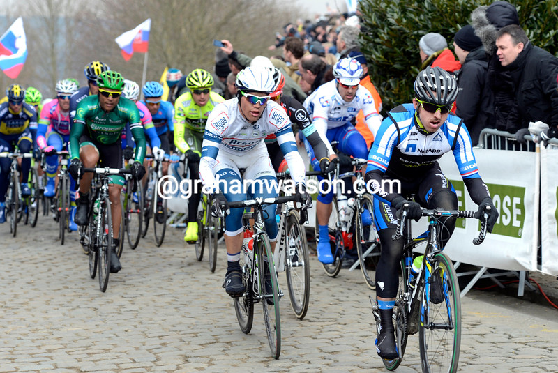 Russell Downing in the 2013 Tour of Flanders