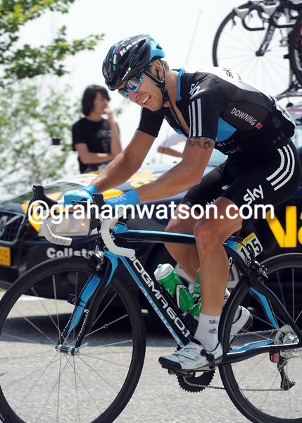 RUSSELL DOWNING ON STAGE FIFTEEN OF THE 2011 GIRO D'ITALIA