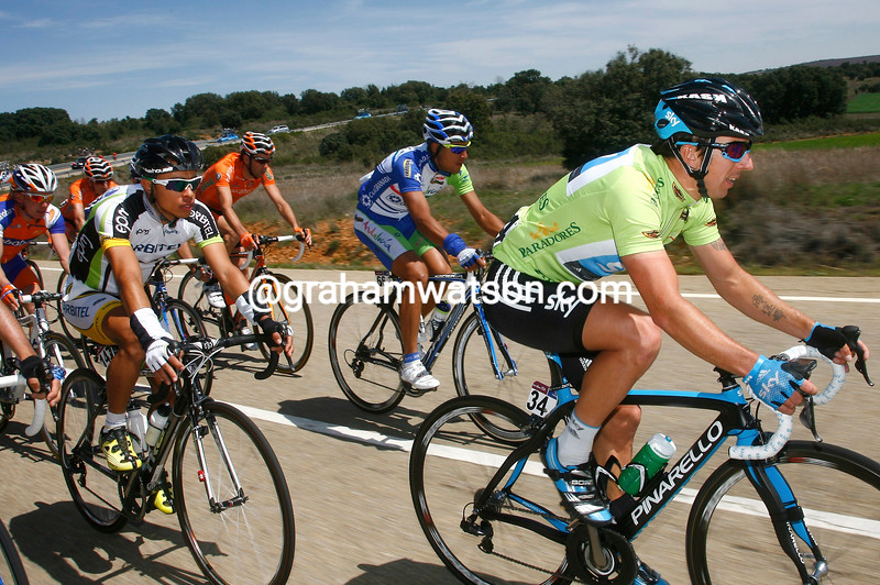 RUSSELL DOWNING ON STAGE THREE OF THE 2011 CASTILLA Y LEON RACE