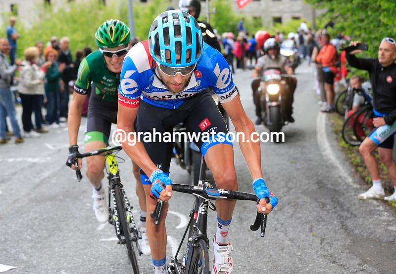 Ryder Hesjedal on stage fourteen of the 2014 Giro d'Italia