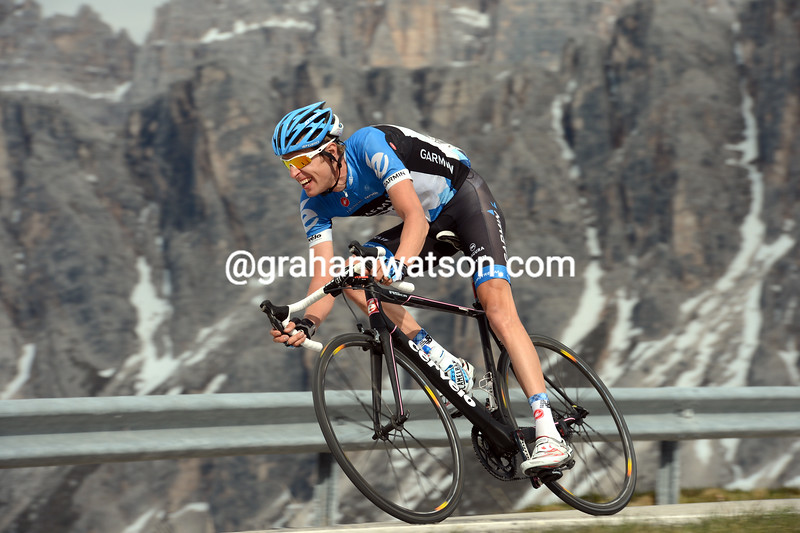 Ryder Hesjedal on stage seventeen of the 2012 Giro d'Italia