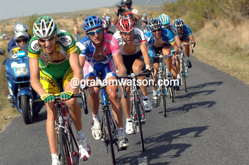 RYDER HESJEDAL LEADS AN ATTACK ON STAGE SEVEN OF THE 2006 TOUR OF SPAIN