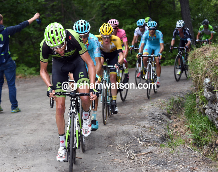 Ryder Hesjedal on stage twenty of the 2015 Tour of Italy
