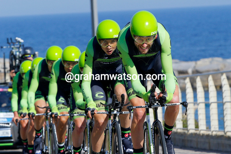Cannondale-Garmin on stage one of the 2015 Tour of Italy
