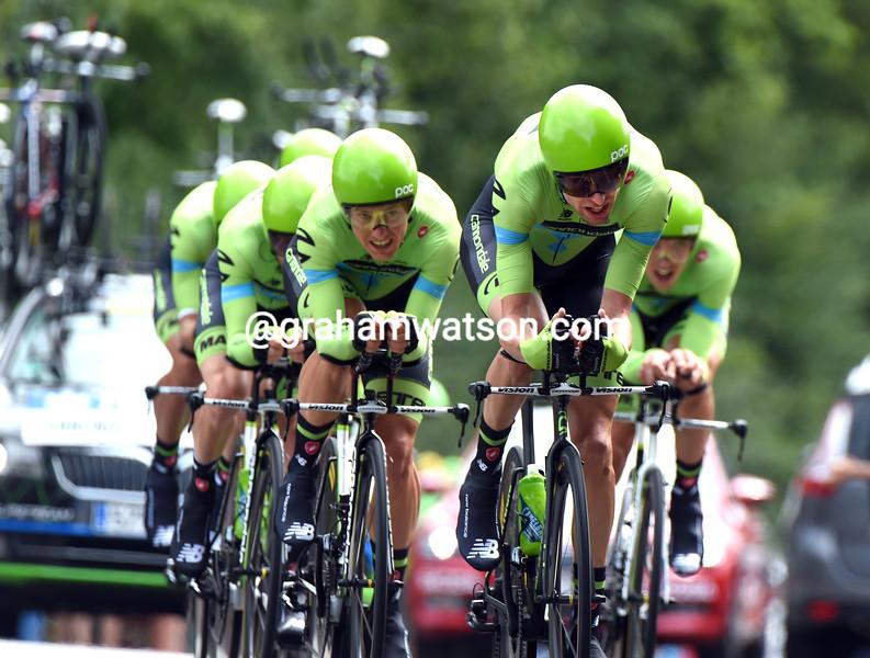 Cannondale-Garmin on stage nine of the 2015 Tour de France