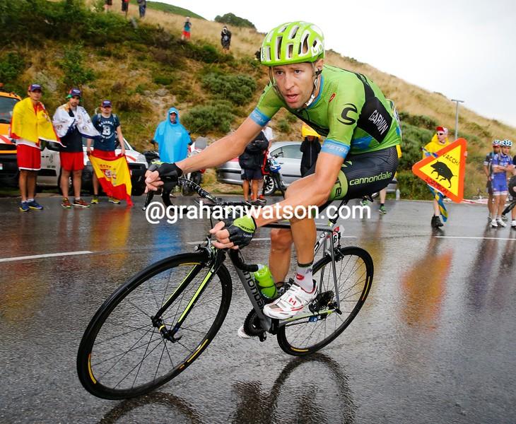 Ryder Hesjedal on stage twelve of the 2015 Tour de France