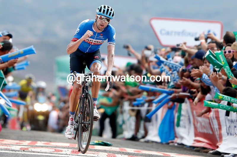 Ryder Hesjedal wins Stage 14 of the 2014 Tour of Spain