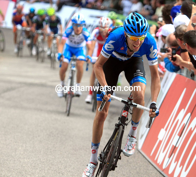 Ryder Hesjedal on stage seven of the 2012 Giro d'Italia